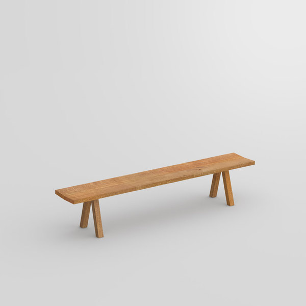 Wooden Designer Bench PAPILIO SIMPLE custom made in Solid oak trunk, oiled by vitamin design