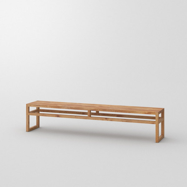 Dining Room Wood Bench SENA custom made in Solid knotty oak, oiled by vitamin design