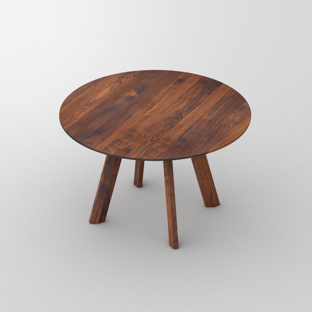 Designer Esstisch Rund RHOMBI ROUND Maßgefertigt Aus Amerikanischer Nussbaum  Massiv, Geölt Von Vitamin Design