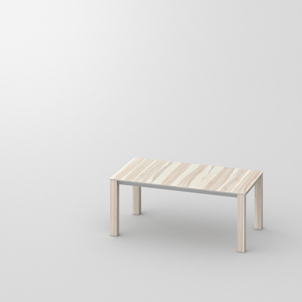 Extendable Designer Table SLIM BUTTERFLY Custom Made In Solid Ash, White  Oiled By Vitamin Design