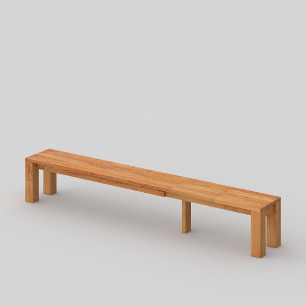 Extendable Solid Wood Bench CUBUS EP 4 custom made in Solid core beech, oiled by vitamin design