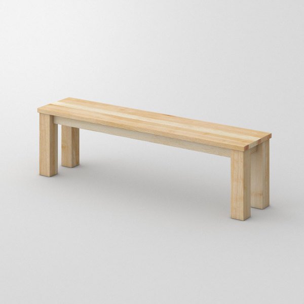 Oak Bench in Solid Wood FORTE 3 custom made in Solid ash, oiled by vitamin design