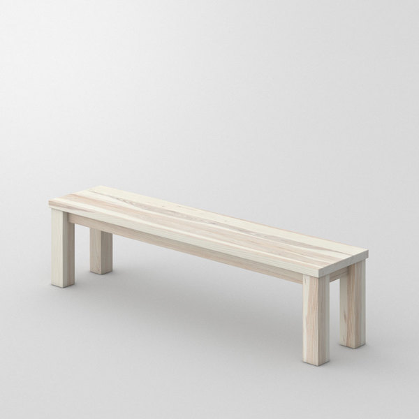 Tailor-Made Wood Bench FORTE 4 custom made in Solid ash, white oiled by vitamin design