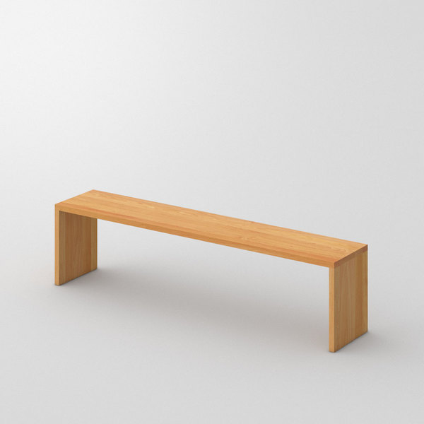 Solid Wood Bench MENA 3 custom made in Solid beech, oiled by vitamin design
