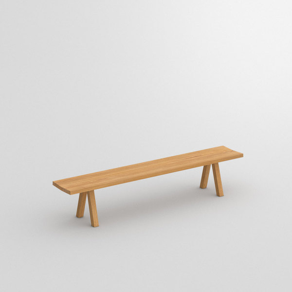Tree Trunk Bench PAPILIO BASIC custom made in Solid oak, oiled by vitamin design
