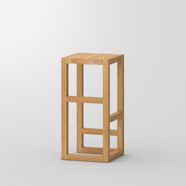 Bar Stool Solid Wood STEP custom made in Solid oak, oiled by vitamin design