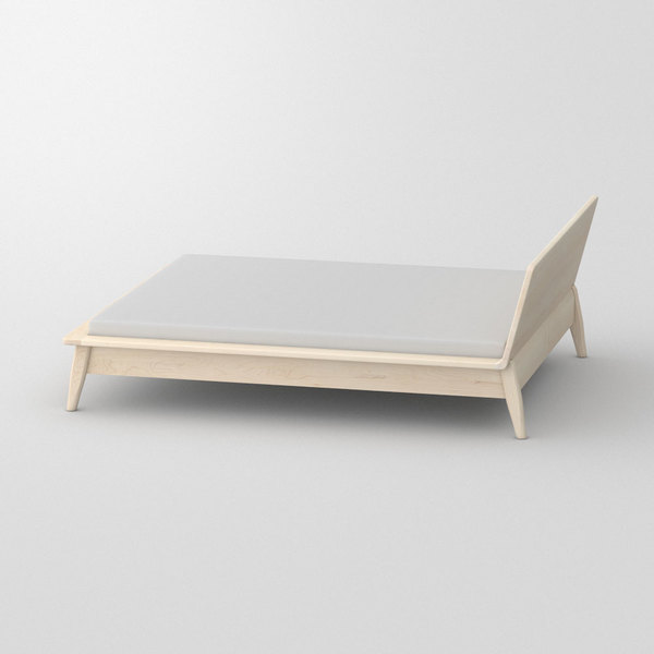 Designer Bed AETAS custom made in Solid American maple, chalked by vitamin design