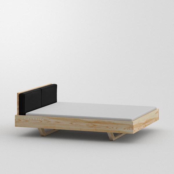 Wood Bed MEA custom made in Solid ash, oiled by vitamin design