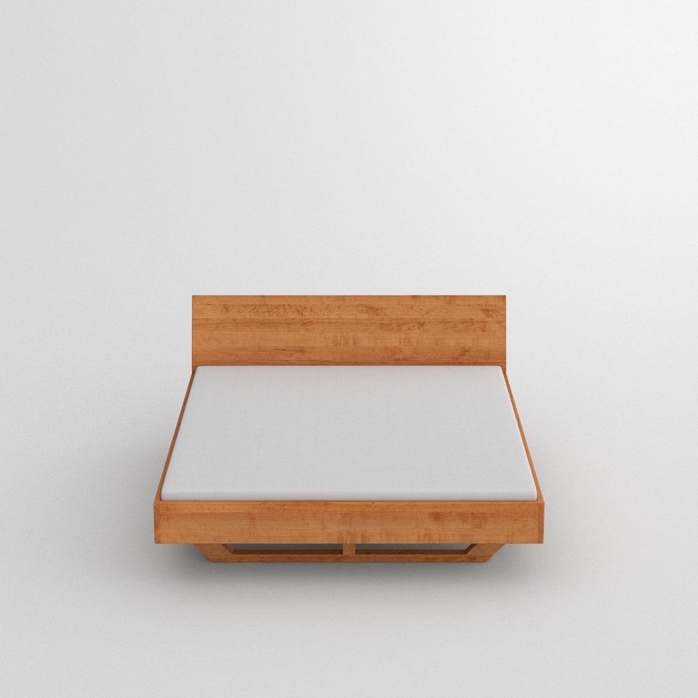 Abgerundete Ecken Massivholzbett Quadra Soft Vitamin Design