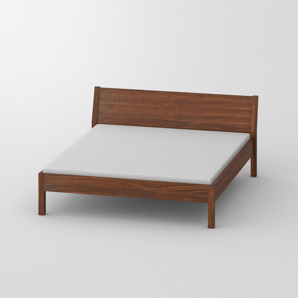 Wooden Bed VILLA custom made in Solid American walnut, oiled by vitamin design