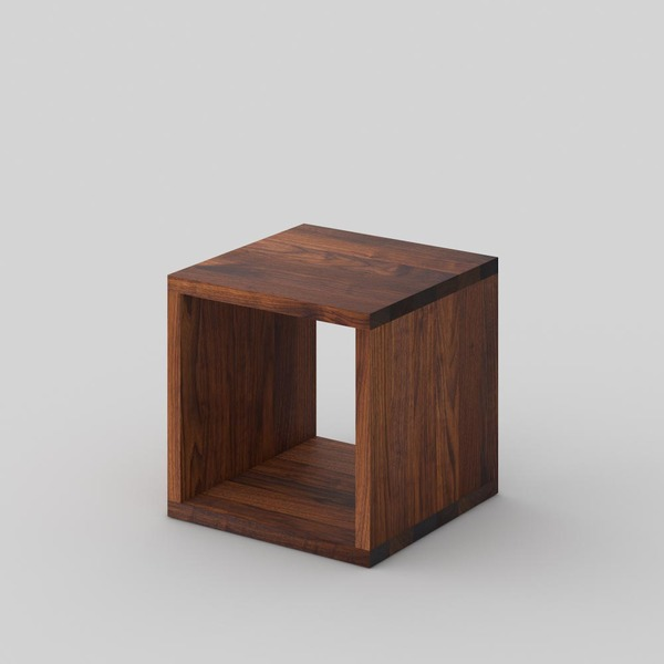 Solid Wood Night Table MENA B custom made in Solid American walnut, oiled by vitamin design