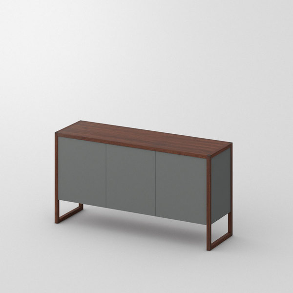 BIO-MDF Wood Sideboard SENA custom made in Solid American walnut, oiled by vitamin design