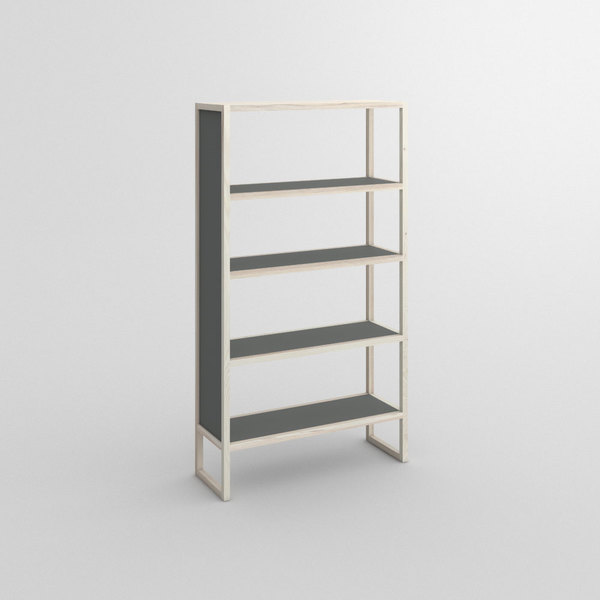 Linoleum Wood Shelf SENA custom made in Solid ash, white oiled by vitamin design