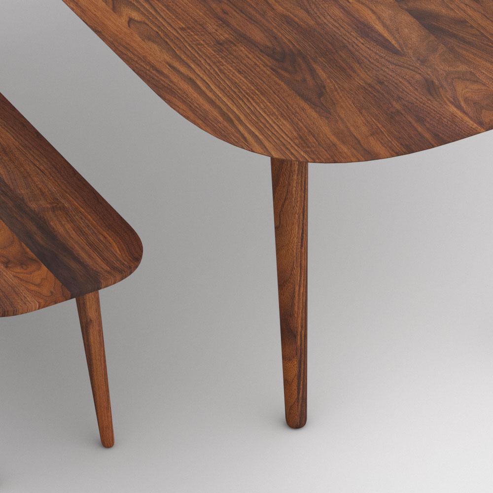 Esstisch Oval AMBIO Maßgefertigt Aus Amerikanischer Nussbaum Massiv, Geölt  Von Vitamin Design