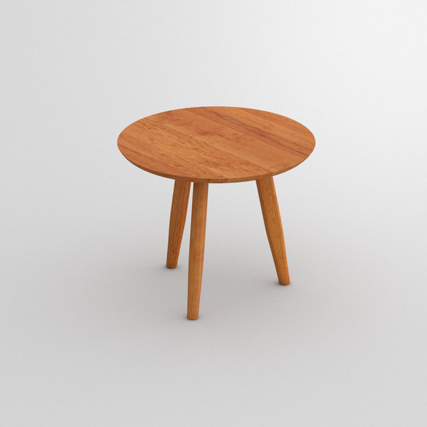 Wooden Round Coffee Table Aetas Custom Made In Solid American Cherrywood Oiled By Vitamin