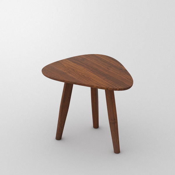 Design Side Table Night table AETAS SPACE custom made in Solid American walnut, oiled by vitamin design