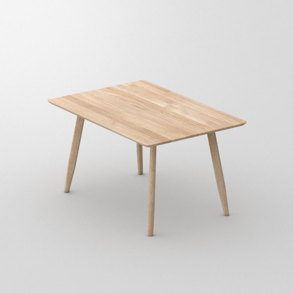 Designer Dining Table Wood AETAS BASIC 3 custom made in Solid oak, chalked by vitamin design