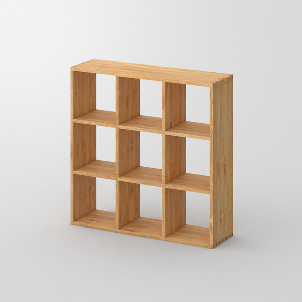 Designer Wood Shelf PISA G custom made in Solid oak, oiled by vitamin design
